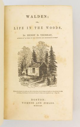 WALDEN; OR, LIFE IN THE WOODS.