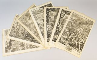 "SEVEN ILLUSTRATED LEAVES, OFFERED AS A COLLECTION, FROM ""METAMORPHOSES."" ENGRAVINGS, OVID"