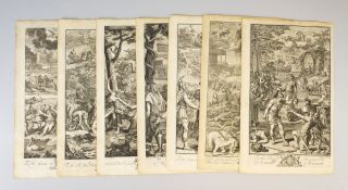 "SEVEN ILLUSTRATED LEAVES, OFFERED AS A COLLECTION, FROM ""METAMORPHOSES."""