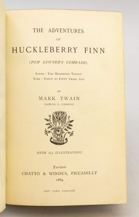 THE ADVENTURES OF HUCKLEBERRY FINN.