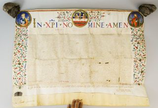 TEXT RELATING TO THE DOMINICAN COMMUNITY OF SANTA MARIA SOPRA MINERVA IN ROME. A LARGE PAPAL BULL...