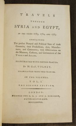 TRAVELS THROUGH SYRIA AND EGYPT, IN THE YEARS 1783, 1784, AND 1785.