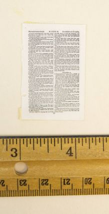 TEXT FROM LUKE. A PRINTED LEAF FROM A. MINIATURE BIBLE IN ENGLISH