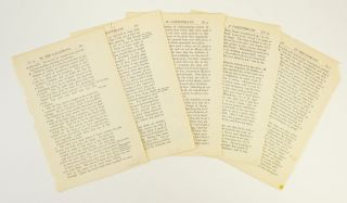 TEXTS FROM I AND II CORINTHIANS, GALATIANS, AND ROMANS. OFFERED AS A. GROUP FIVE PRINTED LEAVES,...