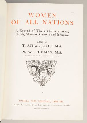 WOMEN OF ALL NATIONS. A RECORD OF THEIR CHARACTERISTICS, HABITS, MANNERS, CUSTOMS AND INFLUENCE.