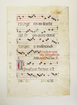 FROM AN ANTIPHONER IN LATIN.