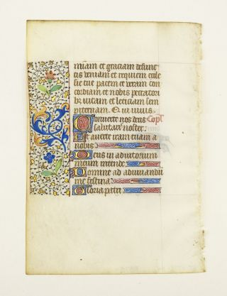FROM AN ATTRACTIVE BOOK OF HOURS IN LATIN.