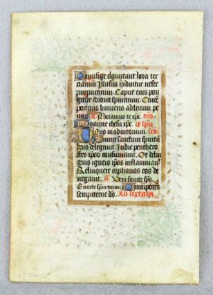 USE OF SAINTES. TEXT FROM THE HOURS OF THE CROSS.