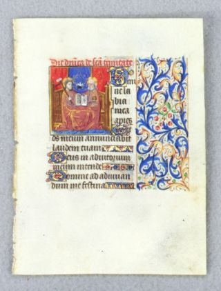 TEXT FROM THE SUNDAY HOURS OF THE HOLY TRINITY. FROM AN ENGAGING LITTLE BOOK OF HOURS IN LATIN AN...