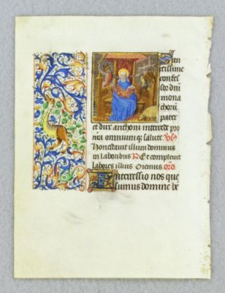 TEXT FROM THE SUFFRAGES OF THE SAINTS. FROM AN ENGAGING LITTLE BOOK OF HOURS IN LATIN AN...