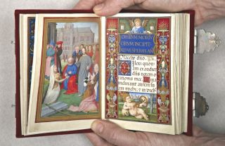 DAS STUNDENBUCH DER SFORZA. [THE SFORZA HOURS]. EARLY FACSIMILE PUBLICATION - ILLUMINATED...
