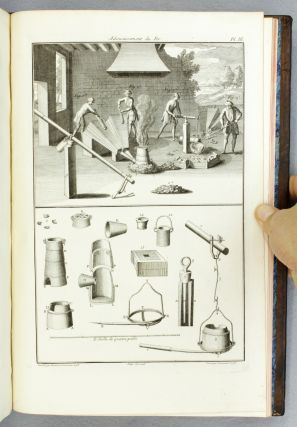 ART DU CHAMOISEUR. [bound with] (SILK DYEING). [MACQUER, PIERRE-JOSEPH]. ART DE LA TEINTURE...