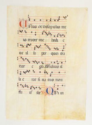FROM AN EXTREMELY LARGE ANTIPHONER IN LATIN.
