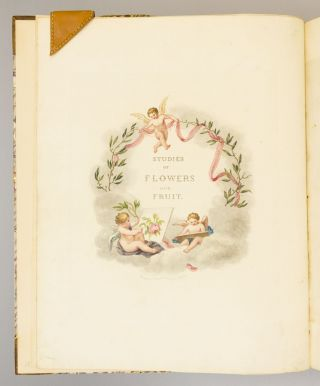 STUDIES OF FRUITS AND FLOWERS, PAINTED FROM NATURE. [bound with] THE ELEMENTS OF FLOWER AND FRUIT PAINTING; ILLUSTRATED WITH ENGRAVINGS.