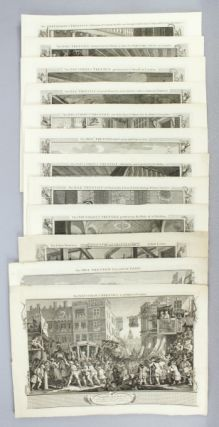 "THE 12 ENGRAVINGS COMPRISING THE ""INDUSTRY AND IDLENESS"" SERIES. MORALIZING ENGRAVINGS, WILLIAM..."