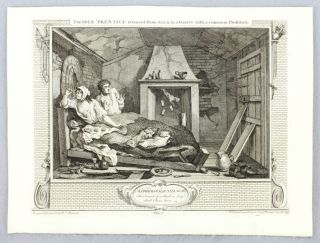 "THE 12 ENGRAVINGS COMPRISING THE ""INDUSTRY AND IDLENESS"" SERIES."