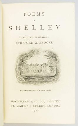 POEMS OF SHELLEY.