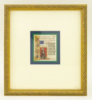 TEXTS FROM LAUDES, VESPERS, AND THE SUFFRAGES. OFFERED INDIVIDUALLY FRAMED ILLUMINATED VELLUM...