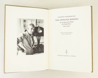 THE OFFICINA BODONI: AN ACCOUNT OF THE WORK OF A HAND PRESS, 1923-1977. OFFICINA BODONI, GIOVANNI...