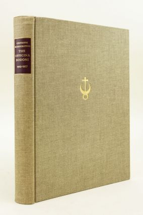THE OFFICINA BODONI: AN ACCOUNT OF THE WORK OF A HAND PRESS, 1923-1977.