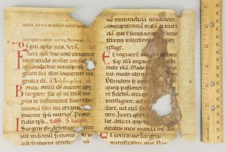 FRAGMENT OF A. LEAF FROM A. NOTED BREVIARY IN LATIN