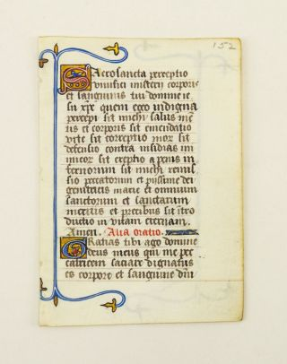 FROM A COLLECTARIUM IN LATIN MADE FOR A FEMALE RELIGIOUS.