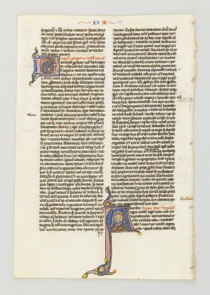 TEXT FROM THE OPENING OF THE BOOK OF DANIEL. FROM A. PORTABLE BIBLE IN LATIN AN ILLUMINATED...