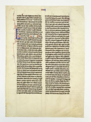 TEXT FROM EXODUS, LEVITICUS, NUMBERS, AND JOSHUA. OFFERED INDIVIDUALLY VELLUM MANUSCRIPT LEAVES,...