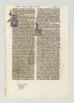 TEXT FROM PARTS OF OBADIAH, JONAH, AND MICAH. FROM A. PORTABLE BIBLE IN LATIN AN ILLUMINATED...