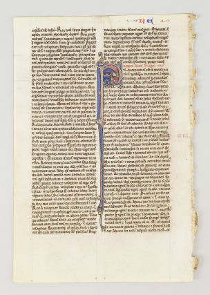 TEXT FROM THIRD AND FOURTH BOOK OF KINGS. FROM A. PORTABLE BIBLE IN LATIN AN ILLUMINATED VELLUM...