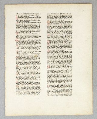 "CATHOLICON. (TEXT FROM THE LETTER ""E""). PRINTED LEAF, JOHANNES BALBUS"
