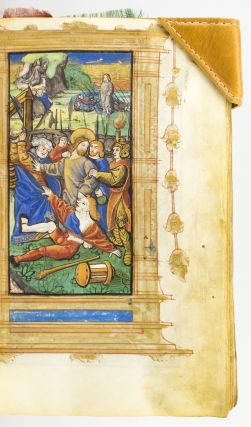 A PRINTED BOOK OF HOURS ON VELLUM, IN LATIN AND FRENCH. USE OF ROME. BOOKS OF HOURS - PRINTED