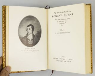 THE POETICAL WORKS OF ROBERT BURNS WITH NOTES, GLOSSARY, INDEX OF FIRST LINES AND CHRONOLOGICAL LIST.