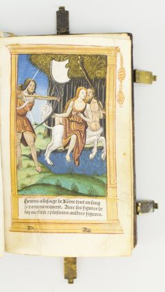 A PRINTED BOOK OF HOURS ON VELLUM, IN LATIN AND FRENCH. USE OF ROME.
