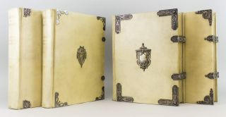 CATALOGUE OF THE COLLECTION OF MINIATURES. THE PROPERTY OF J. PIERPONT MORGAN. BINDINGS, VELLUM PRINTING, J. PIERPONT MORGAN, G. C. WILLIAMSON.