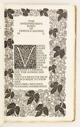 POEMS AND SONNETS. VALE PRESS, HENRY CONSTABLE