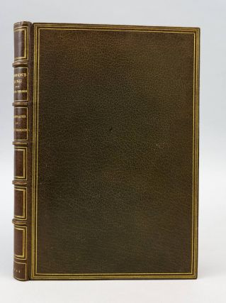 CORIDON'S SONG AND OTHER VERSES FROM VARIOUS SOURCES. BINDINGS - ZAEHNSDORF, HUGH THOMSON