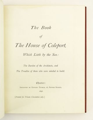 THE BOOK OF THE HOUSE OF COLEPORT, WHICH LIETH BY THE SEA.