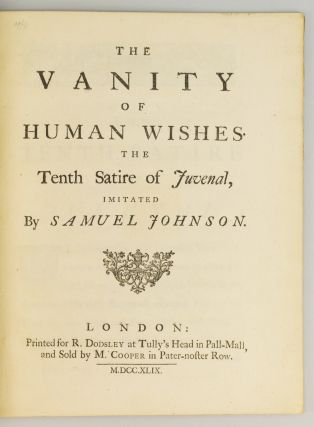 THE VANITY OF HUMAN WISHES.