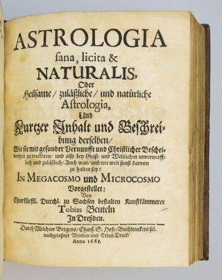 ARBORETUM MATHEMATICUM. [and] ASTROLOGIA SANA, LICITA & NATURALIS.