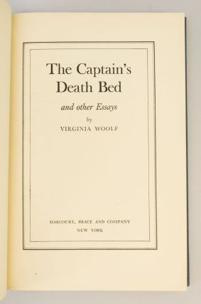 THE CAPTAIN'S DEATH BED AND OTHER ESSAYS.