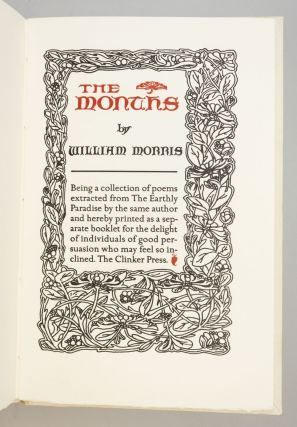 THE MONTHS. CLINKER PRESS, WILLIAM MORRIS