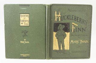 "A SALESMAN'S PROSPECTUS FOR ""THE ADVENTURES OF HUCKLEBERRY FINN."" SAMUEL L. CLEMENS, "" ""MARK TWAIN, Pseudonym."