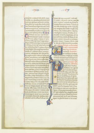 TEXT FROM THE END OF 2 TIMOTHY AND BEGINNING OF TITUS. FROM AN OUTSTANDING MONUMENTAL BIBLE IN...
