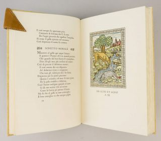 THE FABLES OF AESOP. PRINTED FROM THE VERONESE EDITION OF MCCCCLXXIX IN LATIN VERSES AND ITALIAN VERSION BY ACCIO ZUCCO, WITH THE WOODCUTS NEWLY ENGRAVED AND COLOURED AFTER A COPY IN THE BRITISH MUSEUM. [with] THE FIRST THREE BOOKS OF CAXTON'S AESOP.