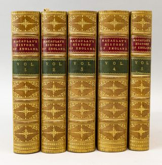 HISTORY OF ENGLAND FROM THE ACCESSION OF JAMES THE SECOND. BINDINGS - FINELY BOUND SETS, THOMAS...