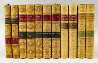 BIOGRAPHIES, MEMOIRS, AND LETTERS OF SIX DISTINGUISHED BRITONS. BINDINGS - TREE OR POLISHED CALF