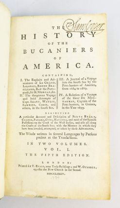 THE HISTORY OF THE BUCANIERS OF AMERICA.