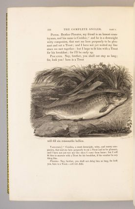 THE COMPLETE ANGLER OR THE CONTEMPLATIVE MAN'S RECREATION . . . WITH ORIGINAL MEMOIRS AND NOTES BY SIR HARRIS NICOLAS.