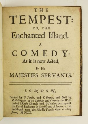 THE TEMPEST: OR, THE ENCHANTED ISLAND. JOHN DRYDEN